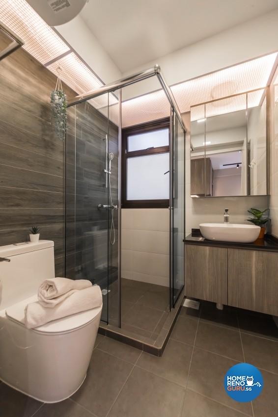 Industrial, Modern Design - Bathroom - HDB 3 Room - Design by Renozone Interior Design House