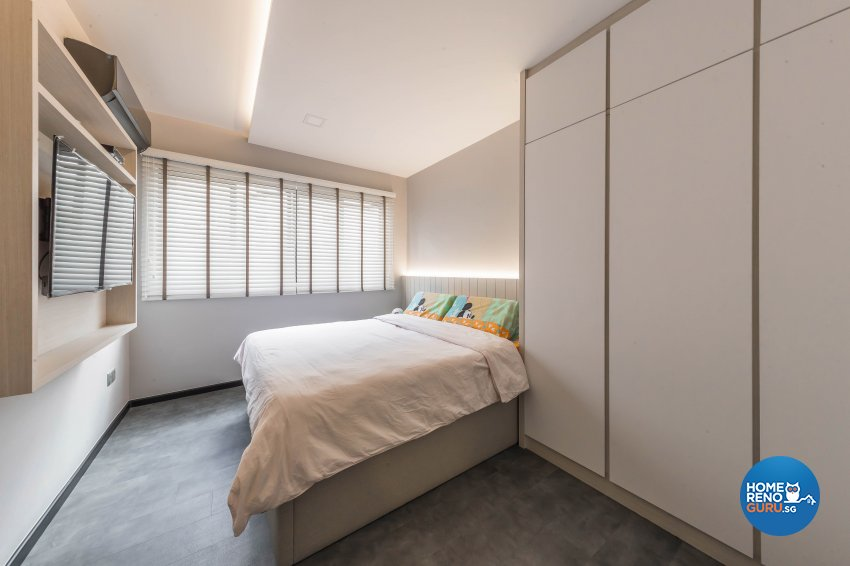 Industrial, Modern Design - Bedroom - HDB 4 Room - Design by Renozone Interior Design House