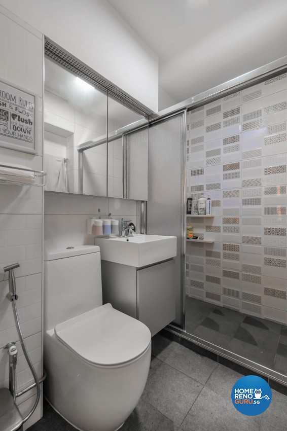 Design - Bathroom - HDB 3 Room - Design by Renozone Interior Design House
