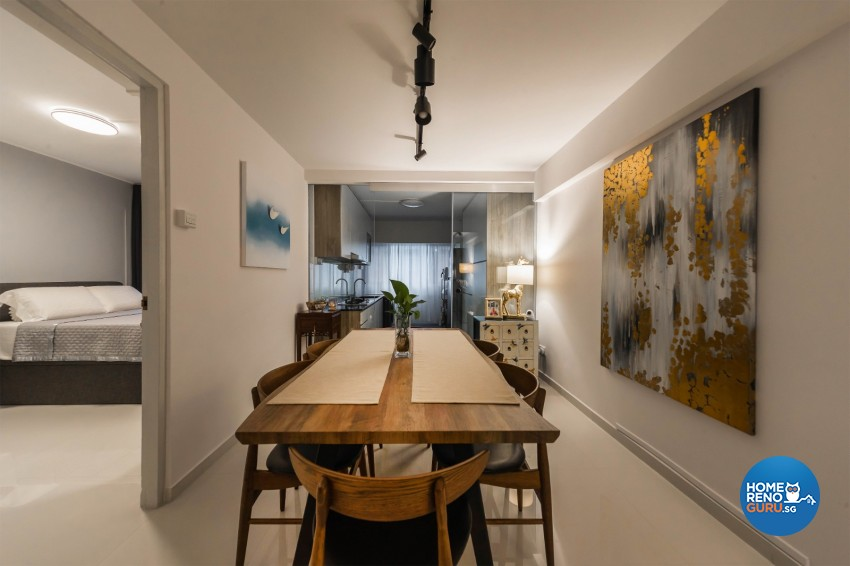 Eclectic, Retro Design - Dining Room - HDB 4 Room - Design by Renozone Interior Design House