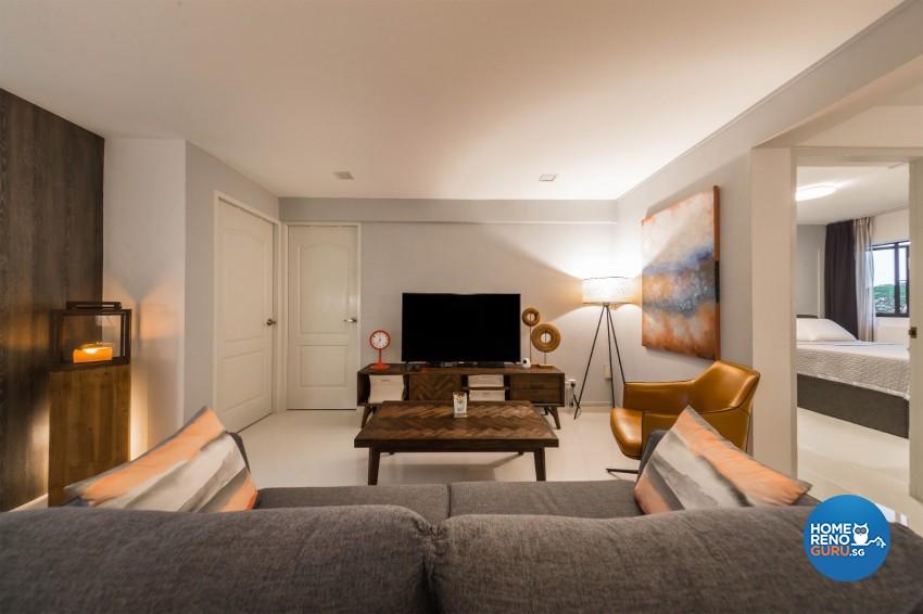 Eclectic, Retro Design - Living Room - HDB 4 Room - Design by Renozone Interior Design House