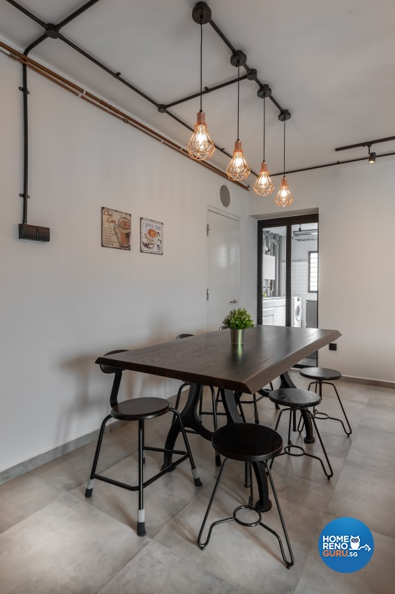 Industrial, Scandinavian Design - Dining Room - HDB 4 Room - Design by Renozone Interior Design House