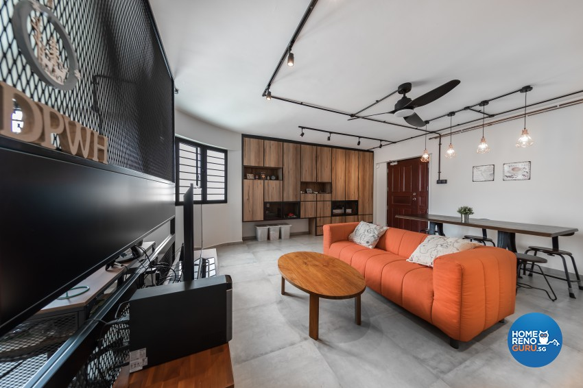 Industrial, Scandinavian Design - Living Room - HDB 4 Room - Design by Renozone Interior Design House