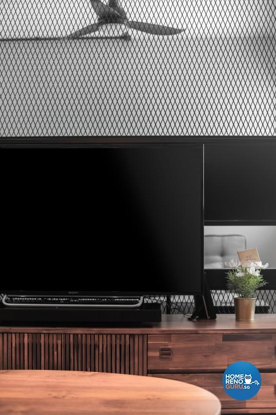 Industrial, Scandinavian Design - Living Room - HDB 4 Room - Design by Renozone Interior Design House