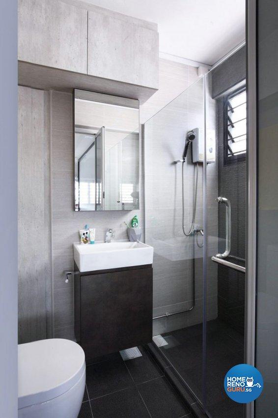 Contemporary, Minimalist, Modern Design - Bathroom - HDB 5 Room - Design by Renozone Interior Design House