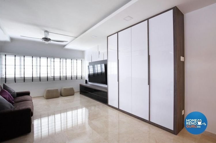 Contemporary, Minimalist, Modern Design - Living Room - HDB 5 Room - Design by Renozone Interior Design House