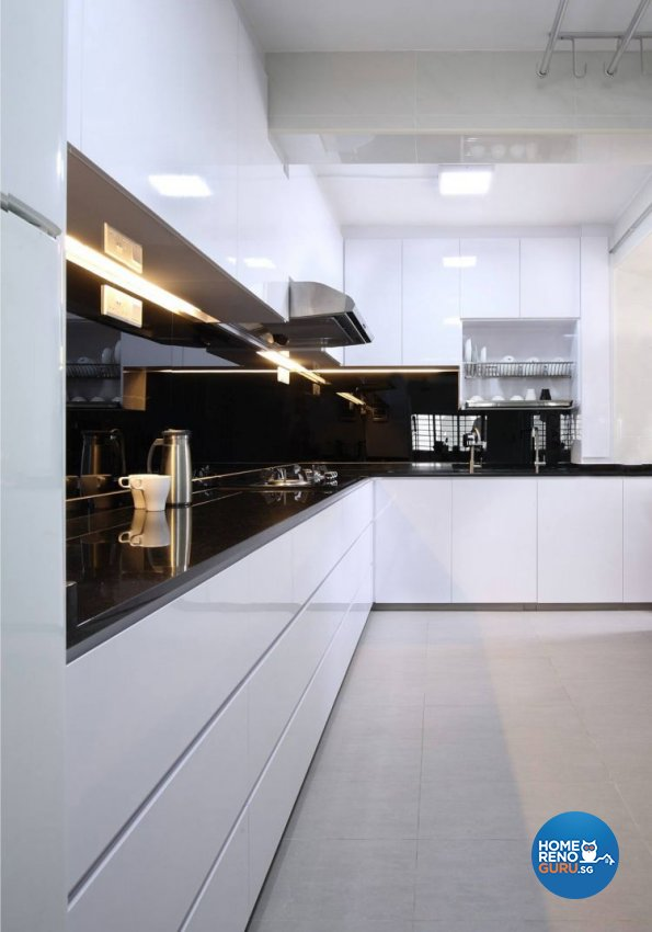 Contemporary, Minimalist, Modern Design - Kitchen - HDB 5 Room - Design by Renozone Interior Design House