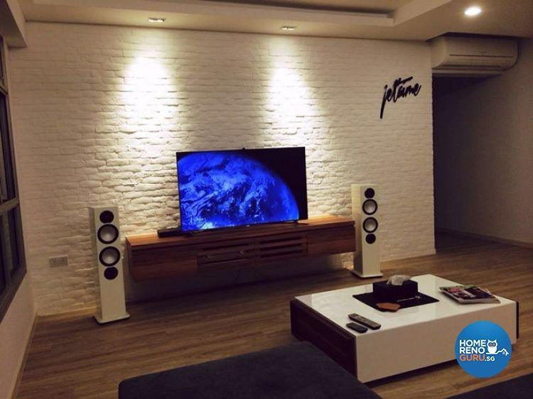 Country, Minimalist, Rustic Design - Living Room - HDB 3 Room - Design by Renozone Interior Design House