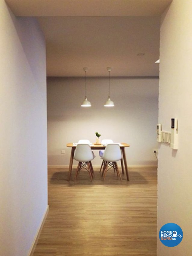 Country, Minimalist, Rustic Design - Dining Room - HDB 3 Room - Design by Renozone Interior Design House