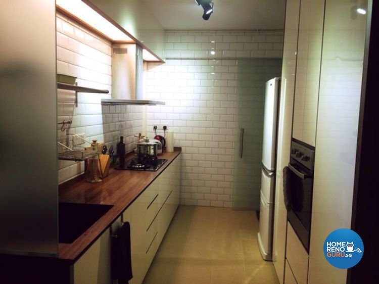 Country, Minimalist, Rustic Design - Kitchen - HDB 3 Room - Design by Renozone Interior Design House