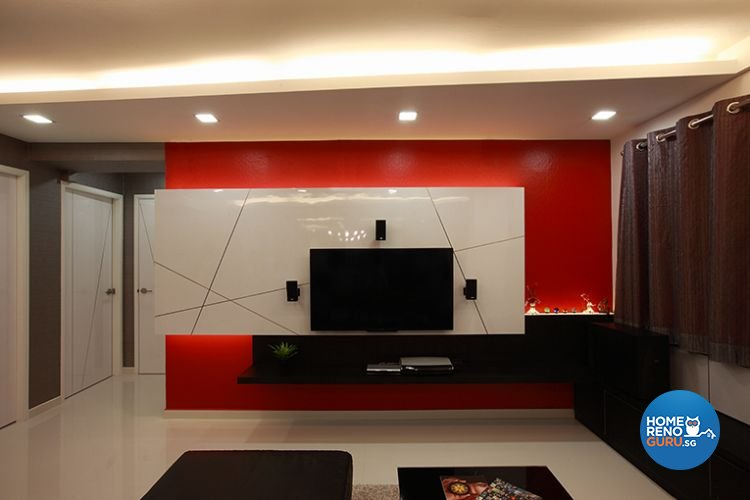 Contemporary, Modern Design - Living Room - HDB 5 Room - Design by Renozone Interior Design House