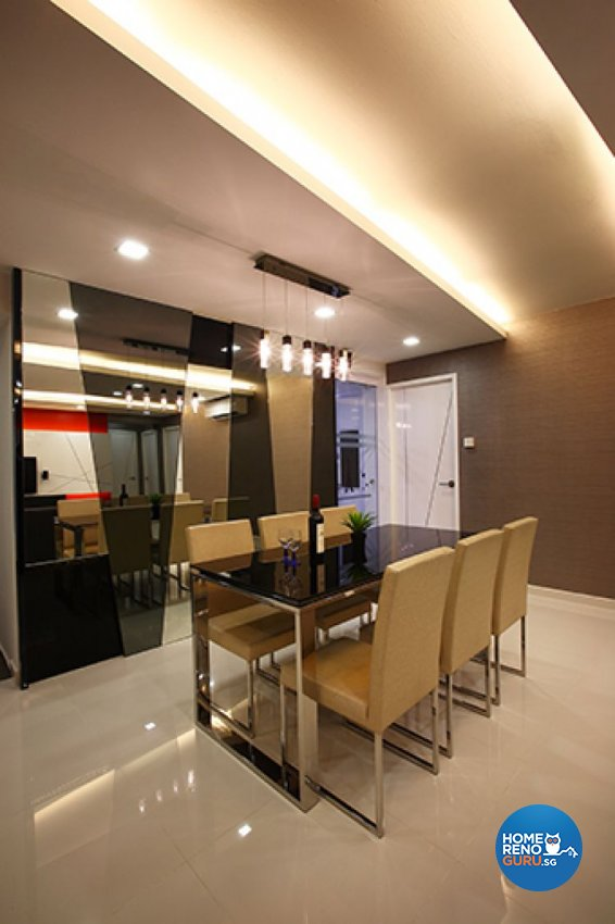 Contemporary, Modern Design - Dining Room - HDB 5 Room - Design by Renozone Interior Design House