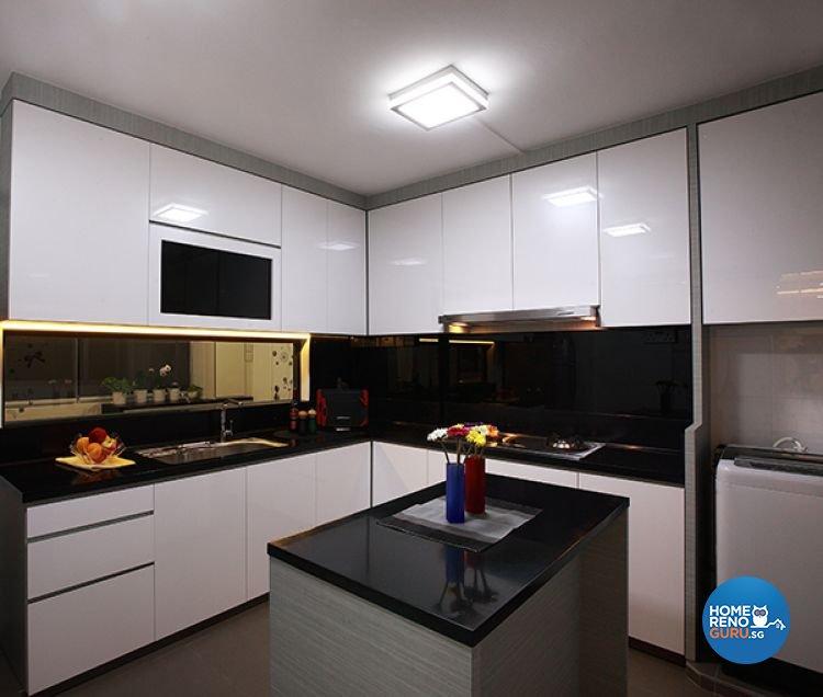 Contemporary, Modern Design - Kitchen - HDB 5 Room - Design by Renozone Interior Design House