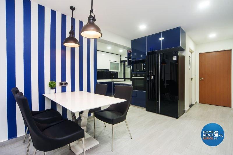 Classical, Contemporary, Modern Design - Dining Room - HDB 4 Room - Design by Renozone Interior Design House