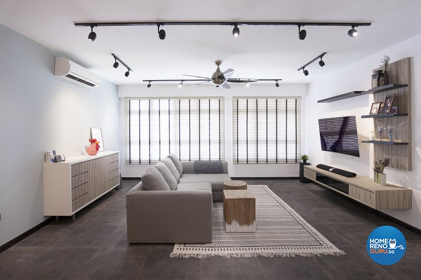 Scandinavian Design - Living Room - HDB 5 Room - Design by Renozone Interior Design House