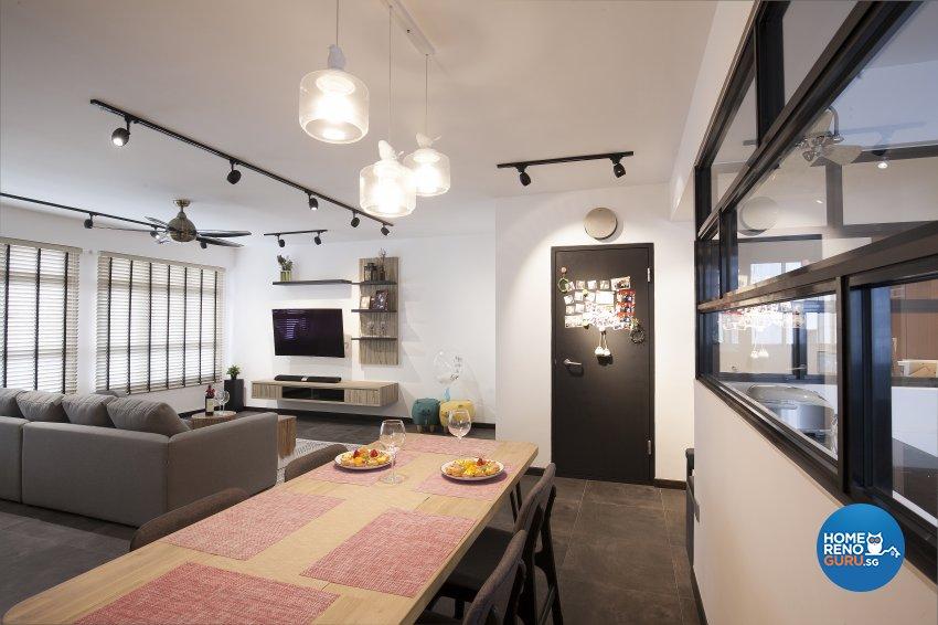Scandinavian Design - Dining Room - HDB 5 Room - Design by Renozone Interior Design House
