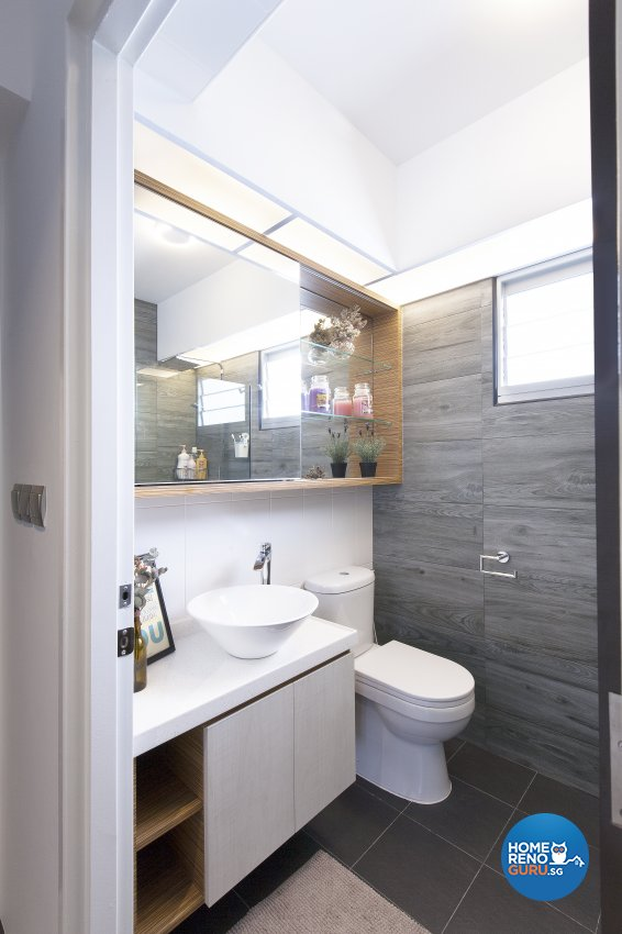 Scandinavian Design - Bathroom - HDB 5 Room - Design by Renozone Interior Design House