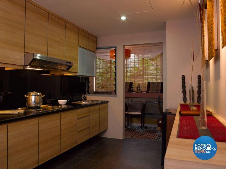 Resort, Tropical Design - Kitchen - Condominium - Design by Renozone Interior Design House