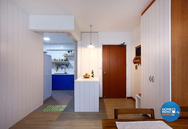 Modern, Scandinavian Design - Dining Room - HDB 3 Room - Design by Renozone Interior Design House