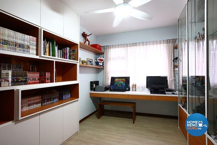 Modern, Scandinavian Design - Study Room - HDB 3 Room - Design by Renozone Interior Design House