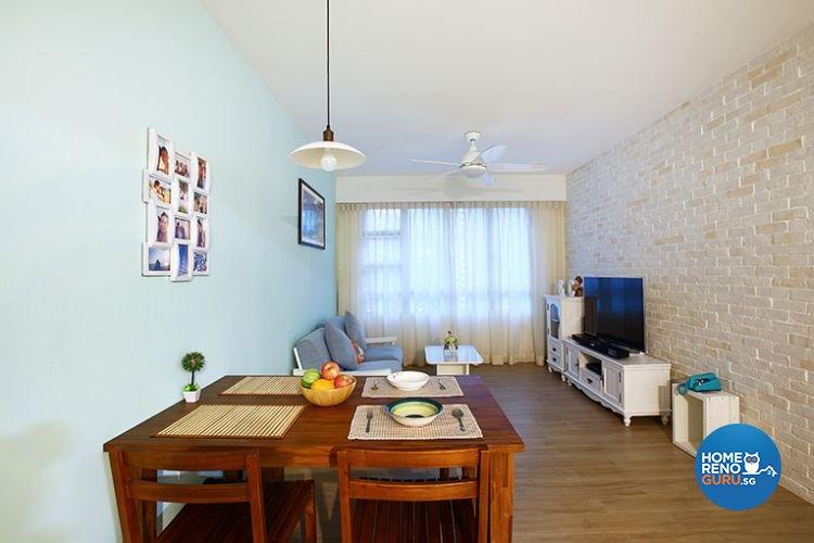 Modern, Scandinavian Design - Living Room - HDB 3 Room - Design by Renozone Interior Design House