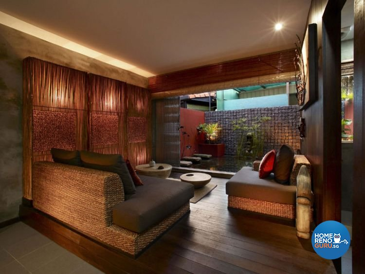 Eclectic, Industrial, Tropical Design - Living Room - HDB 5 Room - Design by Renozone Interior Design House