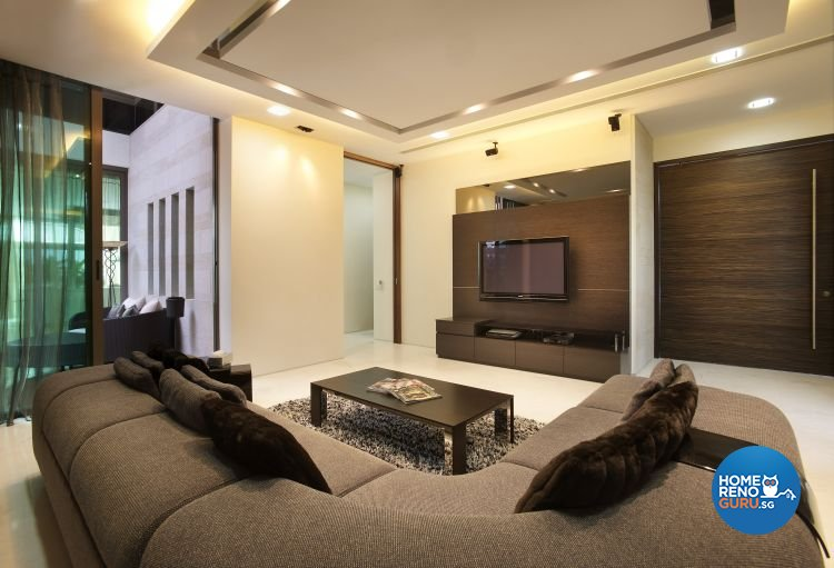 Contemporary, Modern Design - Living Room - Landed House - Design by Renozone Interior Design House