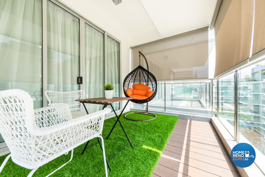 Modern Design - Balcony - Condominium - Design by Renozone Interior Design House