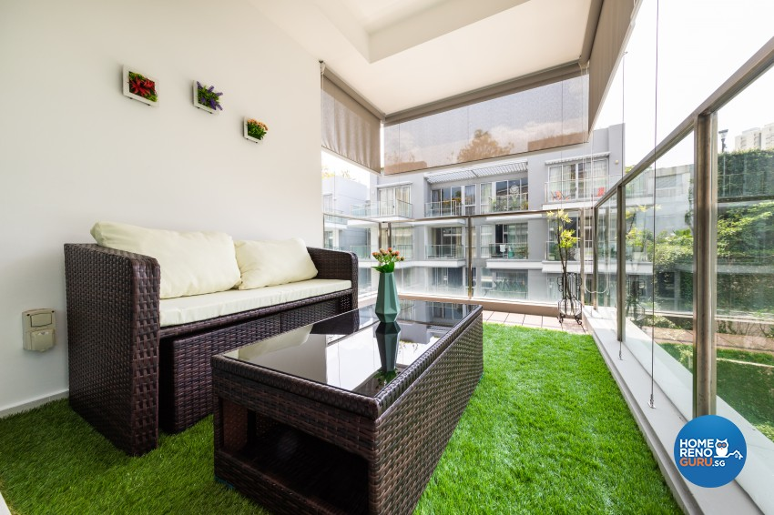 Modern Design - Balcony - Condominium - Design by Renozone Interior Design House