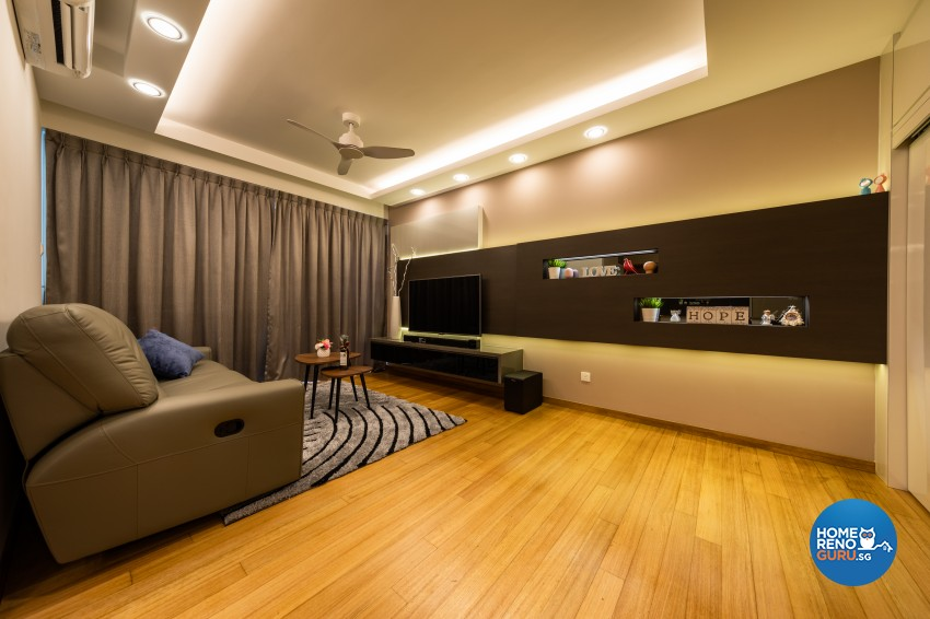 Modern Design - Living Room - Condominium - Design by Renozone Interior Design House