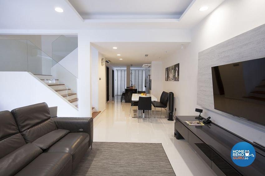 Contemporary, Minimalist, Modern Design - Living Room - Landed House - Design by Renozone Interior Design House