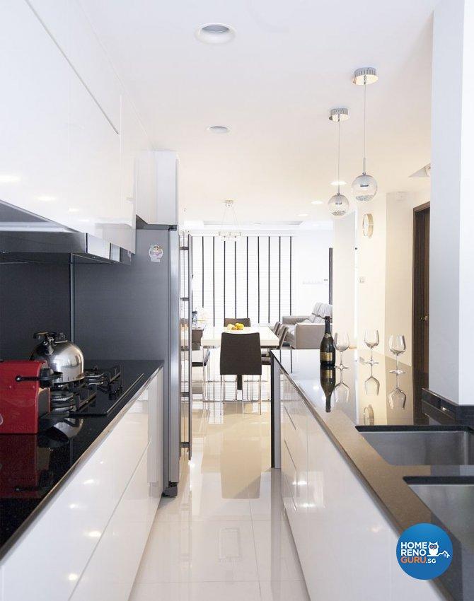 Contemporary, Minimalist, Modern Design - Kitchen - Landed House - Design by Renozone Interior Design House