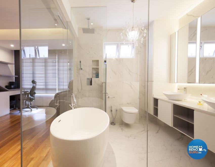 Contemporary, Minimalist, Modern Design - Bathroom - Landed House - Design by Renozone Interior Design House