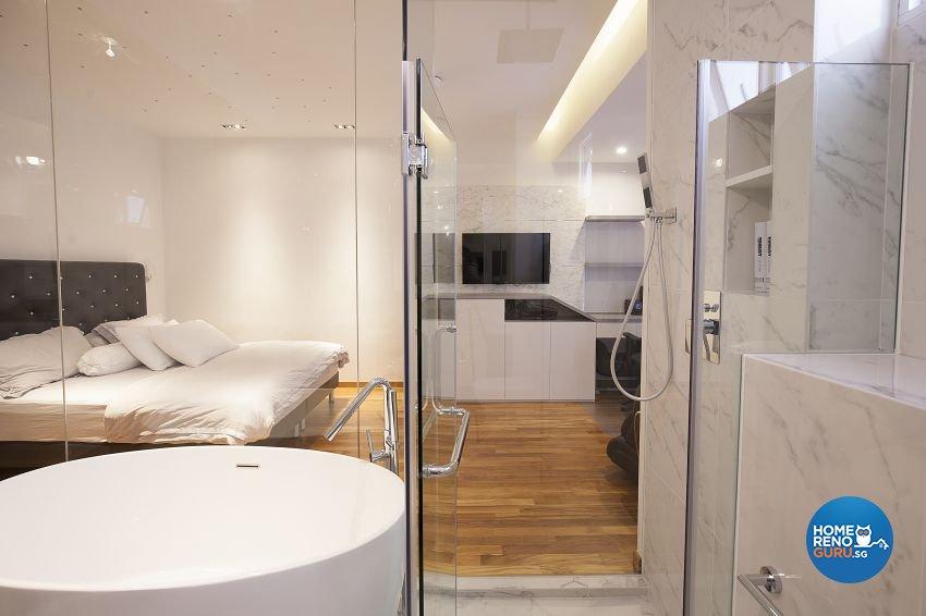Contemporary, Minimalist, Modern Design - Bedroom - Landed House - Design by Renozone Interior Design House