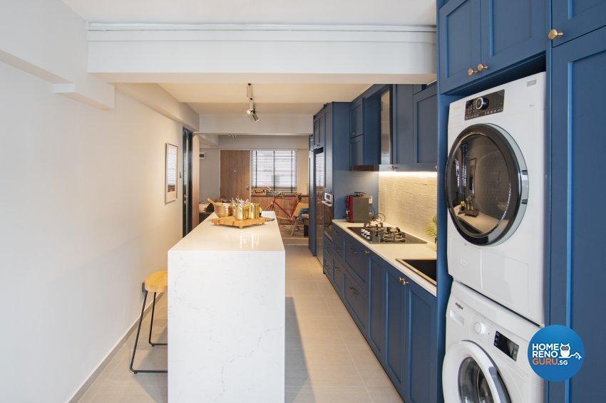 Mediterranean, Scandinavian Design - Kitchen - HDB 3 Room - Design by Rezt+Relax Interior Design