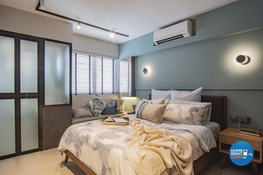 Mediterranean, Scandinavian Design - Bedroom - HDB 3 Room - Design by Rezt+Relax Interior Design