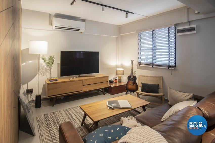 Mediterranean, Scandinavian Design - Living Room - HDB 3 Room - Design by Rezt+Relax Interior Design