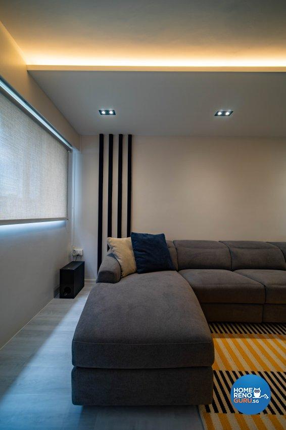 Contemporary Design - Living Room - HDB 4 Room - Design by Rezt+Relax Interior Design