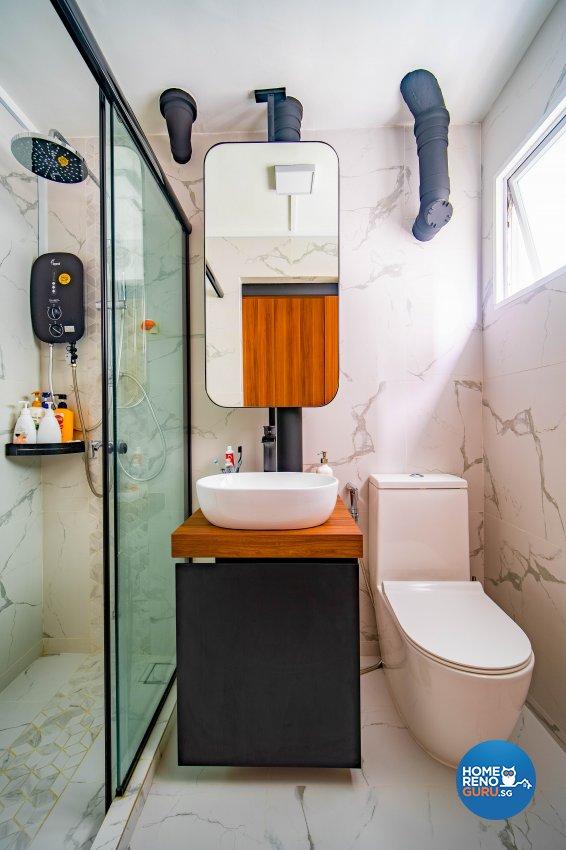 Contemporary Design - Bathroom - HDB 4 Room - Design by Rezt+Relax Interior Design