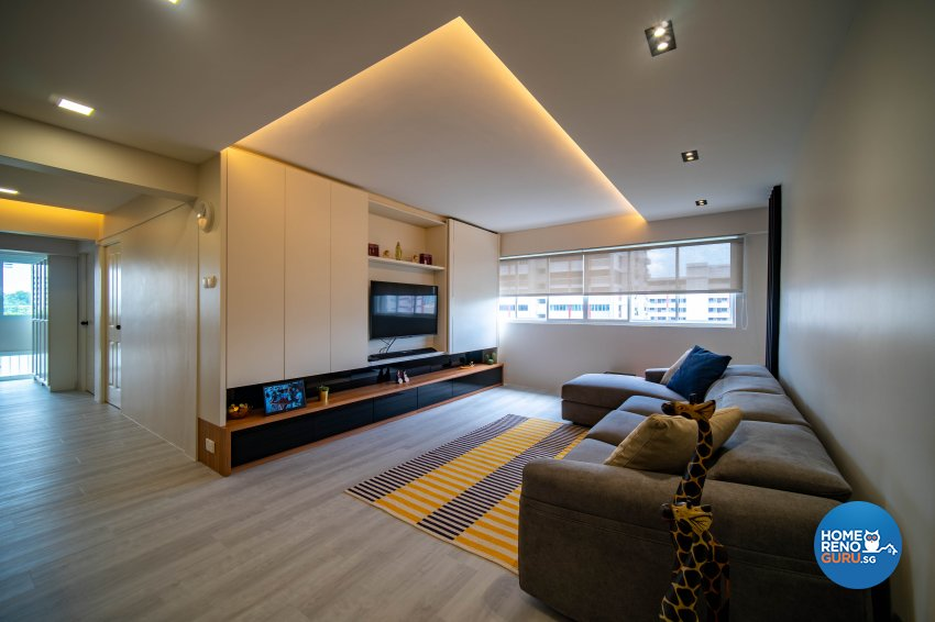 Contemporary Design - Living Room - HDB 4 Room - Design by Rezt+Relax Interior Design