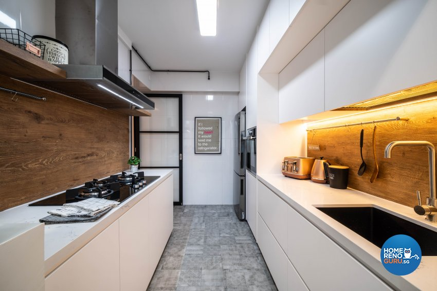 Contemporary Design - Kitchen - HDB 4 Room - Design by Rezt+Relax Interior Design