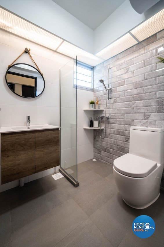 Contemporary Design - Bathroom - HDB 4 Room - Design by Rezt+Relax Interior Design