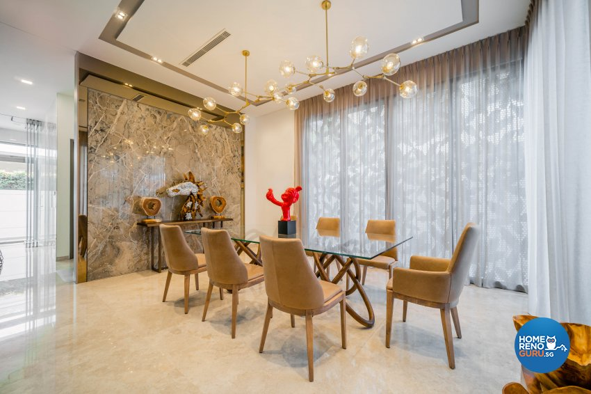 Modern, Tropical Design - Dining Room - Landed House - Design by Rezt+Relax Interior Design