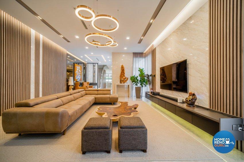 Modern, Tropical Design - Living Room - Landed House - Design by Rezt+Relax Interior Design