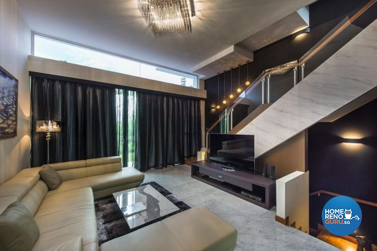 Modern, Rustic Design - Living Room - Landed House - Design by Rezt & Relax Interior