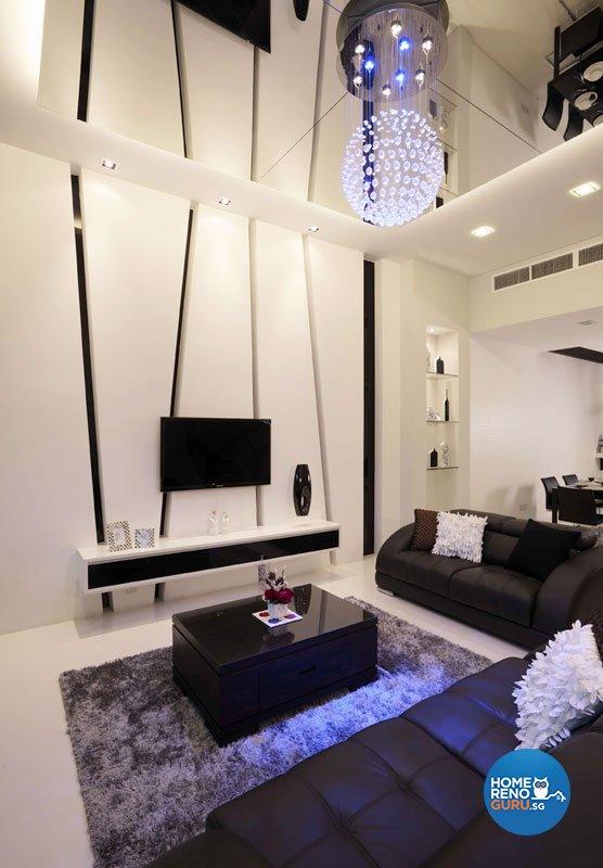 Contemporary, Modern Design - Living Room - Landed House - Design by Rhiss Interior Pte Ltd