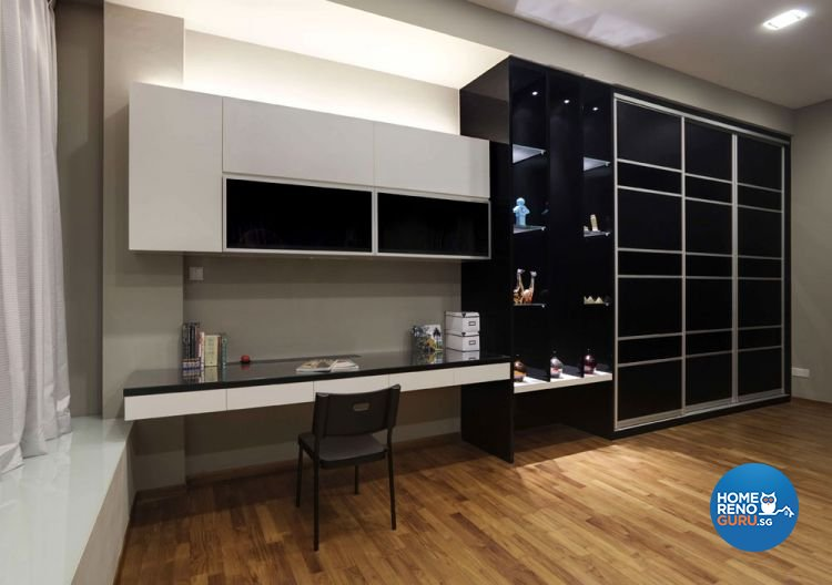 Contemporary, Modern Design - Study Room - Landed House - Design by Rhiss Interior Pte Ltd