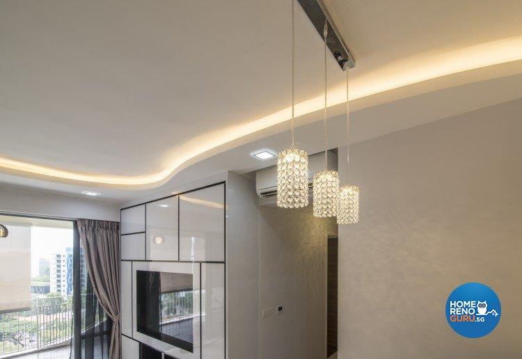 Contemporary, Country Design - Living Room - Condominium - Design by S. Illusion Design & Build Pte Ltd