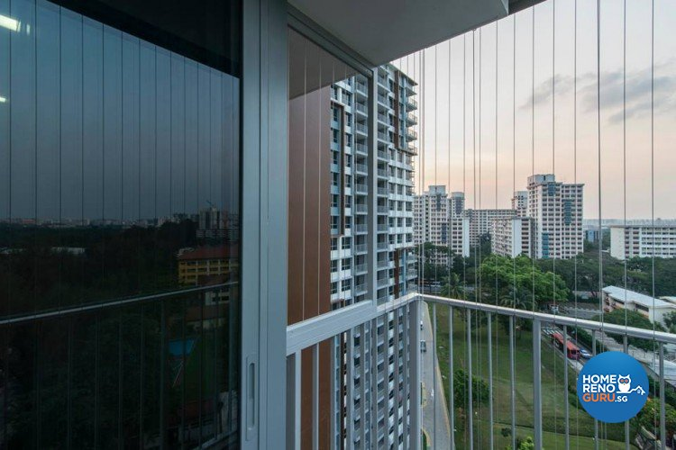 Contemporary, Modern, Scandinavian Design - Balcony - HDB 5 Room - Design by S. Illusion Design & Build Pte Ltd