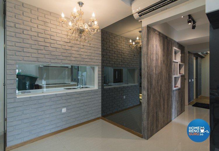 Contemporary, Victorian Design - Living Room - HDB 4 Room - Design by S. Illusion Design & Build Pte Ltd